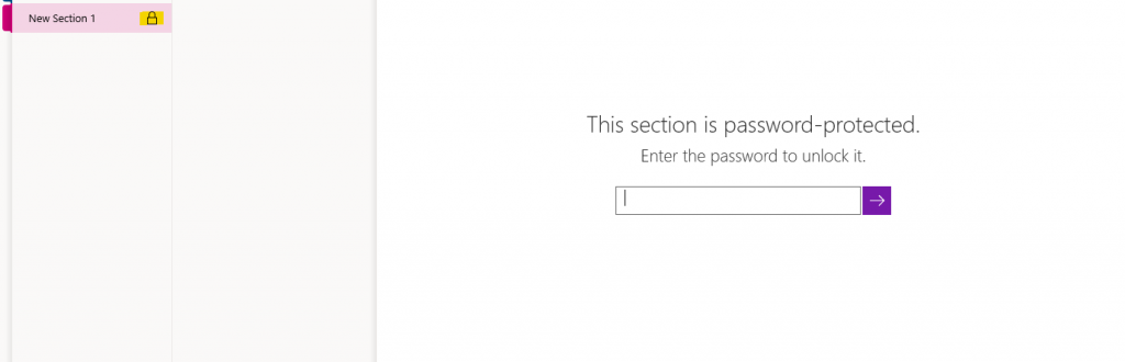 OneNote password protection